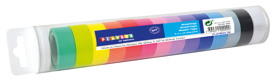 Washi tape storpack 14 st